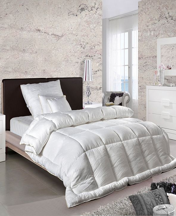 Enchante Home Luxury European Goose Feather & Down Queen Comforter