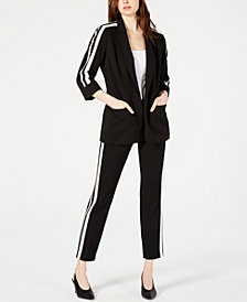 Bar III Varsity Jacket & Straight-Leg Pants, Created for Macy's