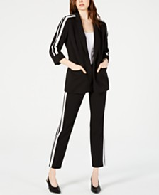 Bar III Varsity Jacket & Straight-Leg Pants, Created for Macy's