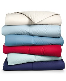 Lauren Ralph Lauren Color Down Alternative Comforters, 100% Cotton Cover