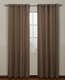 "Armant Grommet Single Curtain Panel, Gold, 54 x 95"""