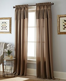 "Landford Rod Pocket Single Curtain Panel, DarkRed, 54 x 63"""