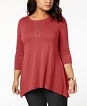 Plus Size Dressy Tops  Shop Plus Size Dressy Tops - Macy s 8207502a0