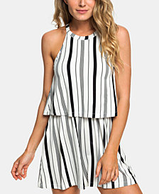 Roxy Juniors' Favorite Song Striped Romper