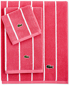 "Lacoste Sport Stripe 30"" x 52"" Bath Towel"