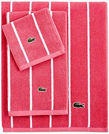 """Lacoste Sport Stripe 16"""" x 28"""" Hand Towel"""