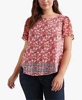 92d6dc7fec12f5 Lucky Brand Plus Size Floral-Print Back-Cutout Top