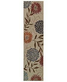 "CLOSEOUT!  Adrienne 4142A Stone/Multi 1'10"" x 7'6"" Runner Area Rug"