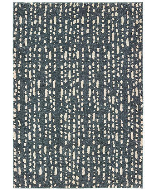 "Oriental Weavers Carson 9673B Blue/Ivory 7'10"" x 10' Area Rug"