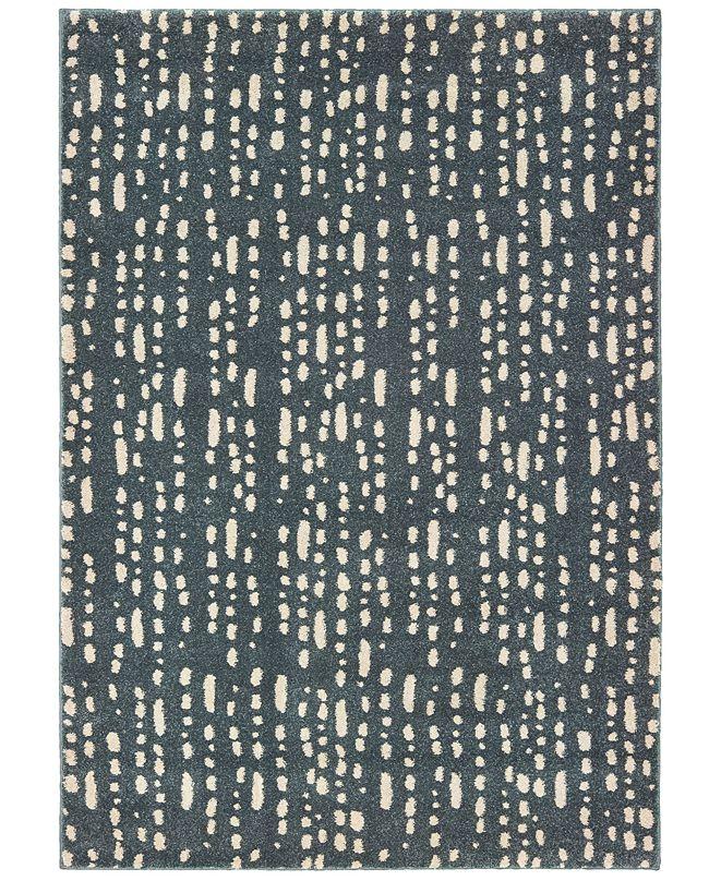 Oriental Weavers Carson 9673B Blue/Ivory 2' x 3' Area Rug