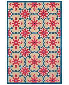 "Cayman 190L9 Sand/Pink 7'10"" x 10'10"" Indoor/Outdoor Area Rug"
