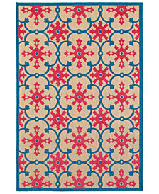 "Oriental Weavers Cayman 190L9 Sand/Pink 1'10"" x 3'3"" Indoor/Outdoor Area Rug"