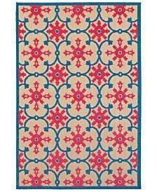 """Oriental Weavers Cayman 190L9 Sand/Pink 9'10"""" x 12'10"""" Indoor/Outdoor Area Rug"""