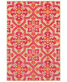 "Oriental Weavers Cayman 2541V Sand/Pink 1'10"" x 3'3"" Indoor/Outdoor Area Rug"