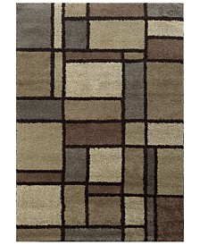 """Oriental Weavers Covington Shag 5502I Beige/Midnight 6'7"""" x 9'6"""" Area Rug"""