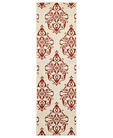 "CLOSEOUT! Oriental Weavers  Jayden 7412D Ivory/Rust 2'3"" x 7'6"" Runner Area Rug"