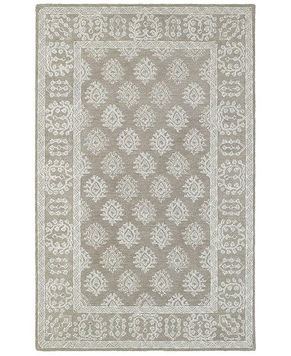 """Oriental Weavers Manor 81202 Gray/Beige 3'6"""" x 5'6"""" Area Rug"""