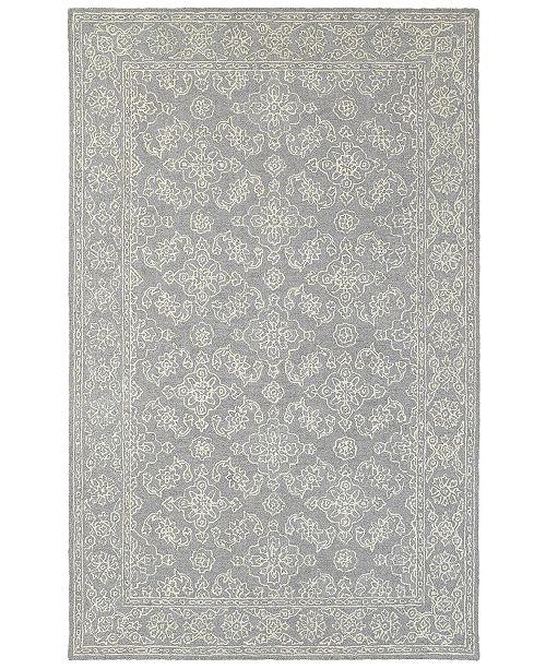 Oriental Weavers Manor 81208 Gray/Stone 5' x 8' Area Rug