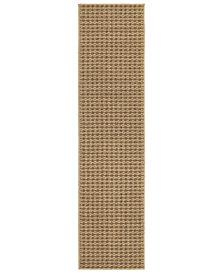 """Oriental Weavers Santa Rosa 4925N Brown/Sand 1'10"""" x 7'6"""" Indoor/Outdoor Runner Area Rug"""