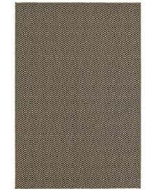 "CLOSEOUT! Oriental Weavers  Santa Rosa 523Z8 Gray/Charcoal 7'10"" x 10'10"" Indoor/Outdoor Area Rug"