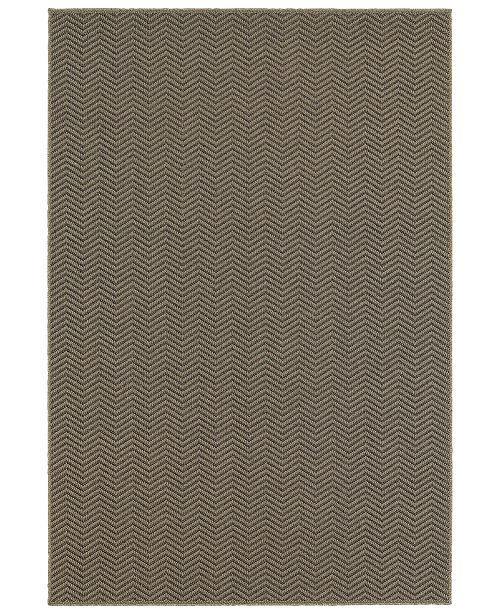 "Oriental Weavers CLOSEOUT!  Santa Rosa 523Z8 Gray/Charcoal 6'7"" x 9'6"" Indoor/Outdoor Area Rug"