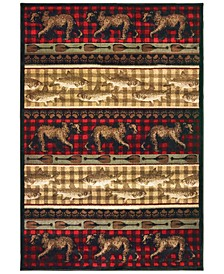 """Woodlands 9594B Red/Multi 9'10"""" x 12'10"""" Area Rug"""