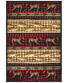 "Oriental Weavers Woodlands 9594B Red/Multi 9'10"" x 12'10"" Area Rug"
