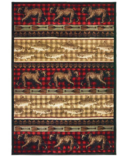 "Oriental Weavers Woodlands 9594B Red/Multi 1'10"" x 3' Area Rug"