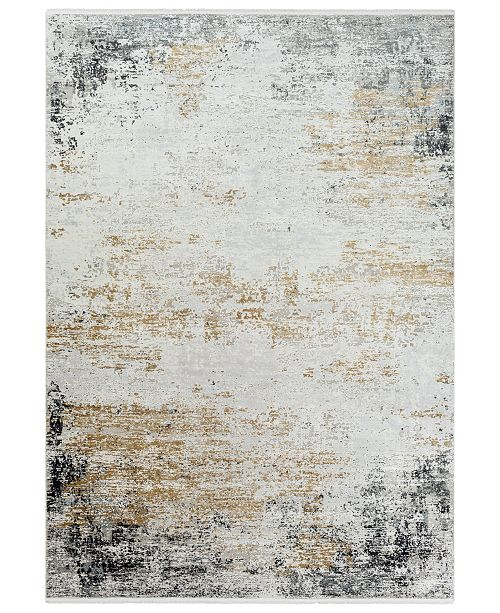"Surya Solar SOR-2302 Medium Gray 5' x 7'6"" Area Rug"