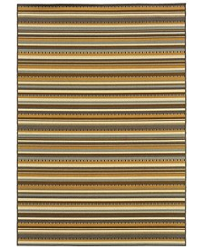 "Bali 1001J Gray/Gold 7'10"" x 10'10"" Indoor/Outdoor Area Rug"