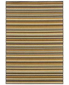 """Oriental Weavers Bali 1001J Gray/Gold 1'9"""" x 3'9"""" Indoor/Outdoor Area Rug"""
