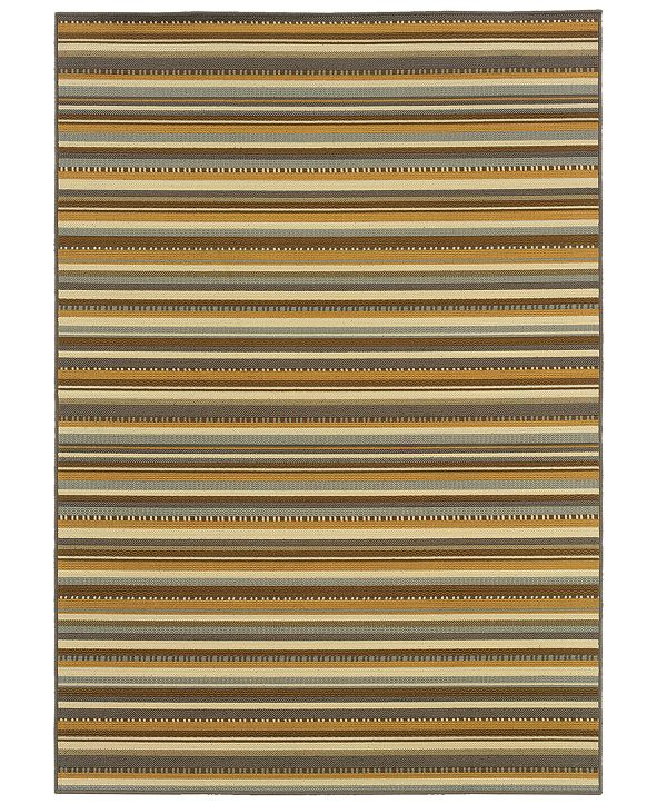"Oriental Weavers Bali 1001J Gray/Gold 5'3"" x 7'6"" Indoor/Outdoor Area Rug"
