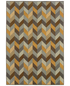 "Oriental Weavers Bali 4902X Gray/Multi 1'9"" x 3'9"" Indoor/Outdoor Area Rug"