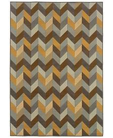 """Oriental Weavers Bali 4902X Gray/Multi 7'10"""" x 10'10"""" Indoor/Outdoor Area Rug"""