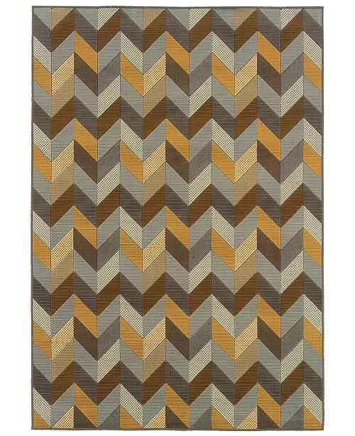 "Oriental Weavers Bali 4902X Gray/Multi 7'10"" x 10'10"" Indoor/Outdoor Area Rug"