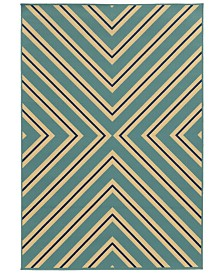 "Oriental Weavers Riviera 4589 6'7"" x 9'6"" Indoor/Outdoor Area Rug"