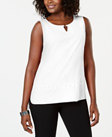JM Collection Petite Studded Tank Top, Created for Macy's
