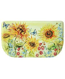 "Bacova Watercolor Sunflower Memory Foam Slice 18""x30"" Accent Rug"
