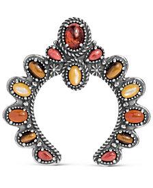 American West Amber Multi Stone Naja Pendant Enhancer in Sterling Silver