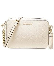 MICHAEL Michael Kors Chain Embossed Leather Camera Bag