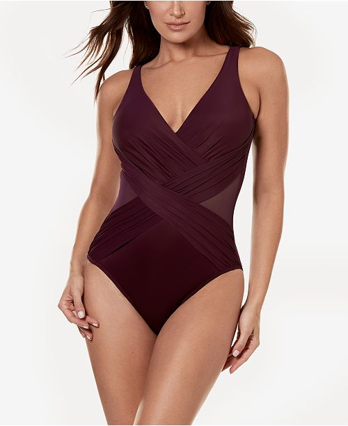 8bf65702 ... Miraclesuit Illusionist Crossover Allover Slimming One-Piece Swimsuit  ...