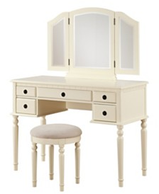Brea Vanity Set with Bench and Mirror