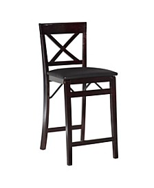Triena X-Back Folding Counter Stool