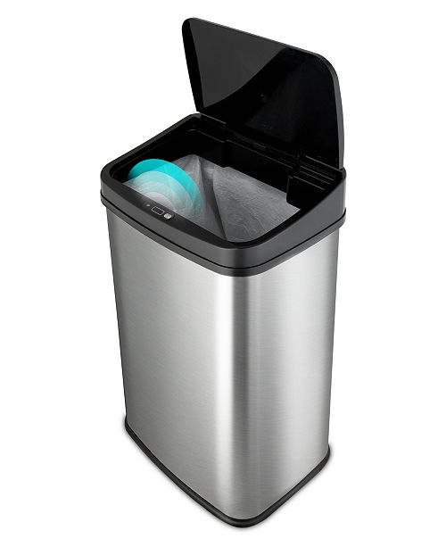 NINE STARS GROUP USA INC Nine Stars 13.2 Gallon Stainless Steel Sensor Trash Can