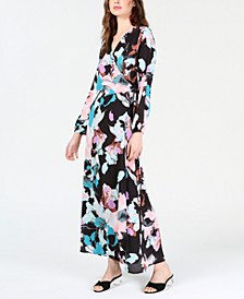 Floral Wrap Maxi Dress, Created for Macy's