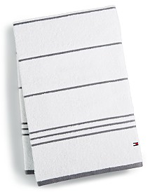 Tommy Hilfiger Home All American II Cotton Stripe Bath Towel, Created for Macy's