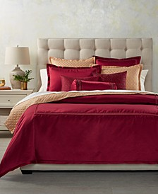 CLOSEOUT! Red Luxe Border Bedding Collection, Created for Macy's
