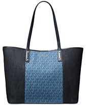 efe6a8f3090ac0 MICHAEL Michael Kors Carter Signature Denim Open Tote, Created for Macy's