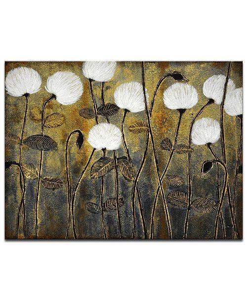 "Ready2HangArt 'Make A Wish' Floral Canvas Wall Art, 20x30"""