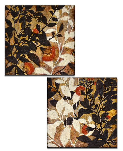 Ready2HangArt 'Sprouting Together I/II' 2 Piece Botanical Canvas Wall Art Set, 20x20""